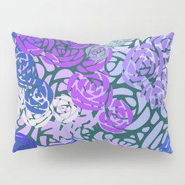 Colorful Overlapping Roses on Roses Print Design 3 Pillow Sham