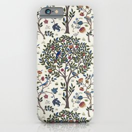 William Morris Trees and Bluebirds  iPhone Case