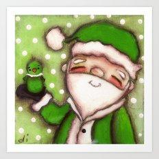 Green Santa - by Diane Duda Art Print