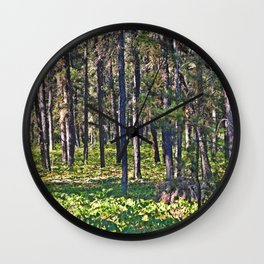 Torch River Forest Wall Clock