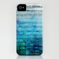 Blue mood music Slim Case iPhone (4, 4s)