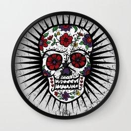 Sugar Skull Star Wall Clock