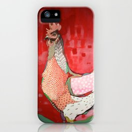 Little Red Hen iPhone Case