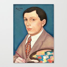 Eugeniusz Zak - Self-portrait - Digital Remastered Edition Canvas Print