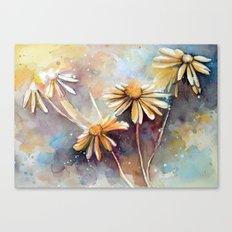 Purple Dream Garden, watercolor explorations Canvas Print