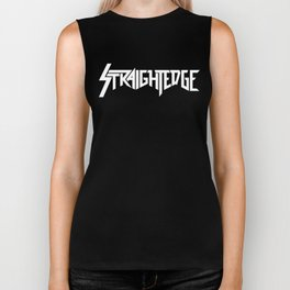 Straight Edge Metal Logo Biker Tank