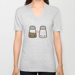 Cute salt and pepper Unisex V-Neck