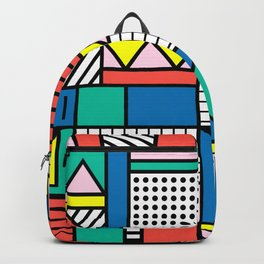 Memphis Color Block Backpack