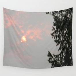 Smokey Sun in the mountains.. Wall Tapestry