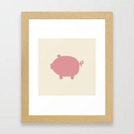piggy Framed Art Print