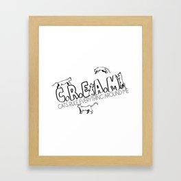 C.R.E.A.M.  Framed Art Print