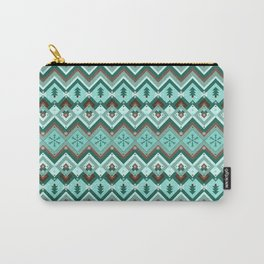 Christmassy Chevrons Carry-All Pouch