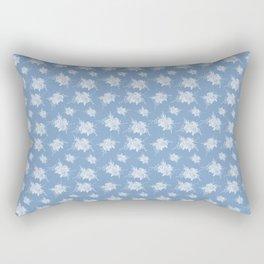 White rose pattern Rectangular Pillow