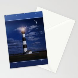 Night at Bodie Island Light Stationery Cards