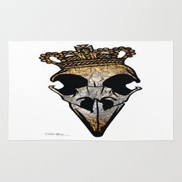 Gold/Silver Crown Skull Rug