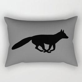 Running Fox Silhouette Rectangular Pillow