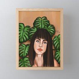 Plantlady 3 Framed Mini Art Print