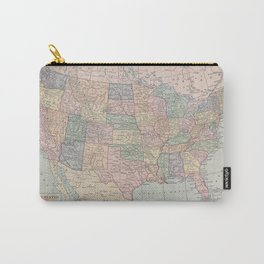 Vintage Map of the United States Carry-All Pouch