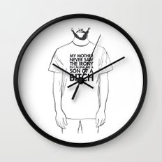 Son of a bitch Wall Clock