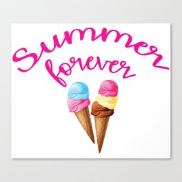 Summer forever with icecream Canvas Print