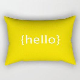 [Hello} postcard style print Rectangular Pillow