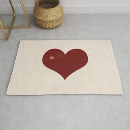 Knitted heart Rug