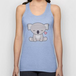 Kawaii Cute Koala Bear With Heart Unisex Tank Top