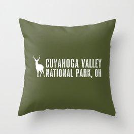 Deer: Cuyahoga Valley, Ohio Throw Pillow