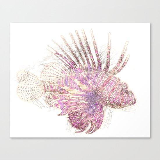 Lets draw a Lionfish Canvas Print