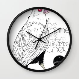 As Rare As the White Crow Wall Clock
