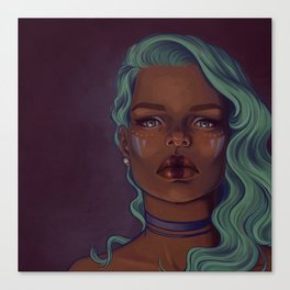 Steely eyes Canvas Print