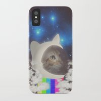 space cat iPhone & iPod Cases featuring Space Cat by OMG Catz