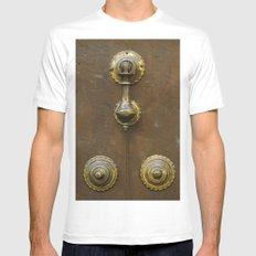 Historic door White MEDIUM Mens Fitted Tee