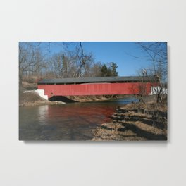 Geiger's Covered Bridge Metal Print