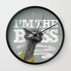 I am the Boss - Ostrich. Wall Clock