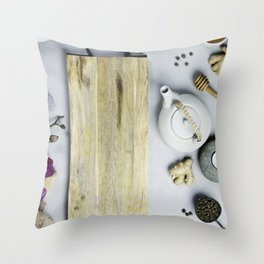 spa and relaxation background Throw Pillow