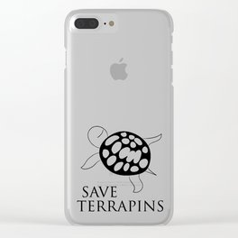 Save Terrapins Clear iPhone Case