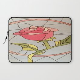 Stained Glass Window Rose Laptop Sleeve