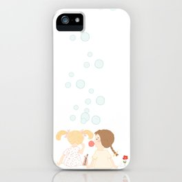 Blowing Bubbles iPhone Case
