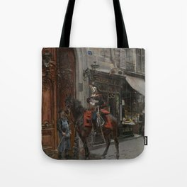 The Dispatch Bearer - Giovanni Boldini Tote Bag