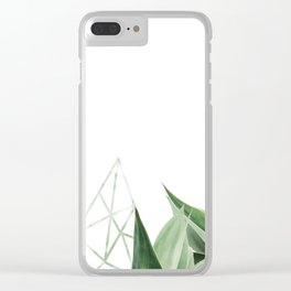 Minimal nature Clear iPhone Case
