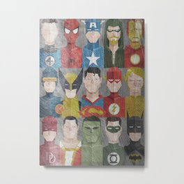 superheroes team superhero action hero Metal Print