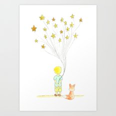 The Little Prince and Fox Art Print