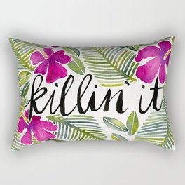 Killin' It – Tropical Pink Rectangular Pillow