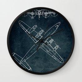 LOCKHEED CONSTELLATION - First flight 1943 Wall Clock