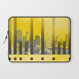 Yellow Abstract Passion Laptop Sleeve