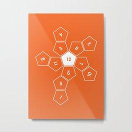 Orange Unrolled D12 Metal Print