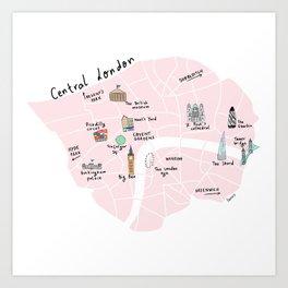 Great cities illustrated: London Art Print