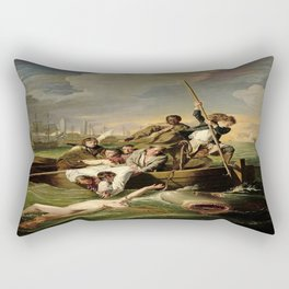 John Singleton Copley's Watson and the Shark Rectangular Pillow