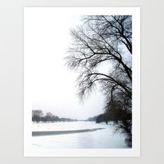 frozen lake. Art Print